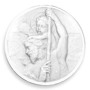 Becker Médaille Becker Saint Christophe de profil