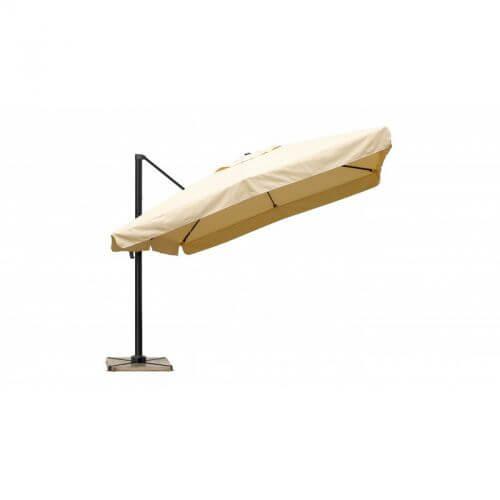 Delorm Design Parasol déporté Sable 3 x 3 m avec volets