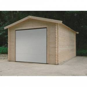 SOLID Garage traditionnel 16,20 m² avec porte motorisée