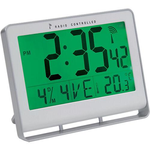 Alba Horloge radio-pilotée 20 cm x 3 cm x 15 cm Blanc