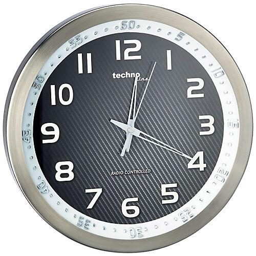 TechnoLine Horloge murale radio pilotée TechnoLine WT8970 30 x 4 2 cm Noir/blanc