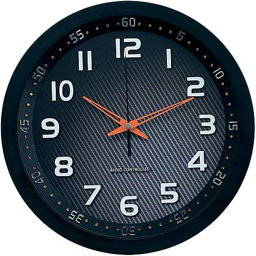 TechnoLine Horloge murale radio pilotée TechnoLine WT8972 30 x 4 2 cm Noir