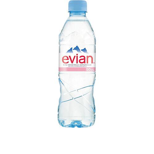 Evian Eau minérale Evian Naturelle Non aromatisé - 24 Bouteilles de 500 ml