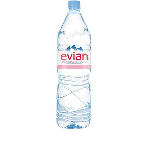 Evian Eau minérale Evian Naturelle Non aromatisé - 12 Bouteilles de 15 L