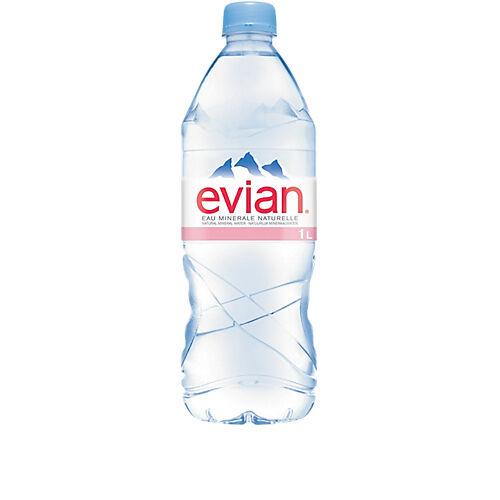 Evian Eau minérale Evian Naturelle Non aromatisé - 12 Bouteilles de 1 L