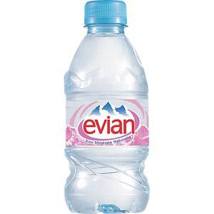 Evian Eau minérale Evian Naturelle Non aromatisé - 24 Bouteilles de 330 ml