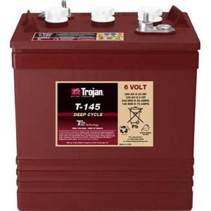 TROJAN Batterie TROJAN PLAQUES EPAISSES T145 GC2H 6V 260AH  AMPS (EN)