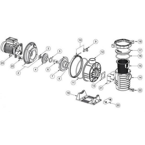 Pentair Clé de serrage du couvercle Ultraflow - N°18