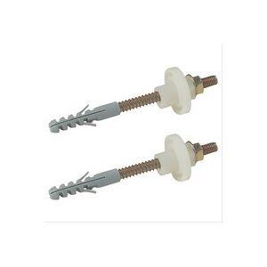 Plomberie-pro Fixation sanitaire acier, Cheville 10x60, goujon 8x90, perçage Ø10 vendu par 2