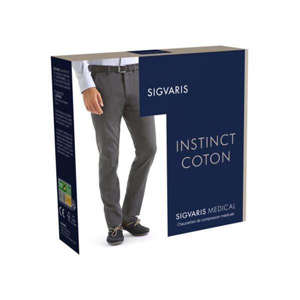 Classe Sigvaris Instinct Coton Chaussettes Classe 3 Normal Taille S Noir