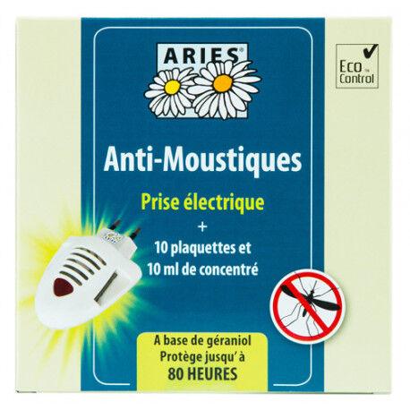 Relais Bio Anti-Moustiques Prise Electrique - 10 Plaquettes et 10ml de...