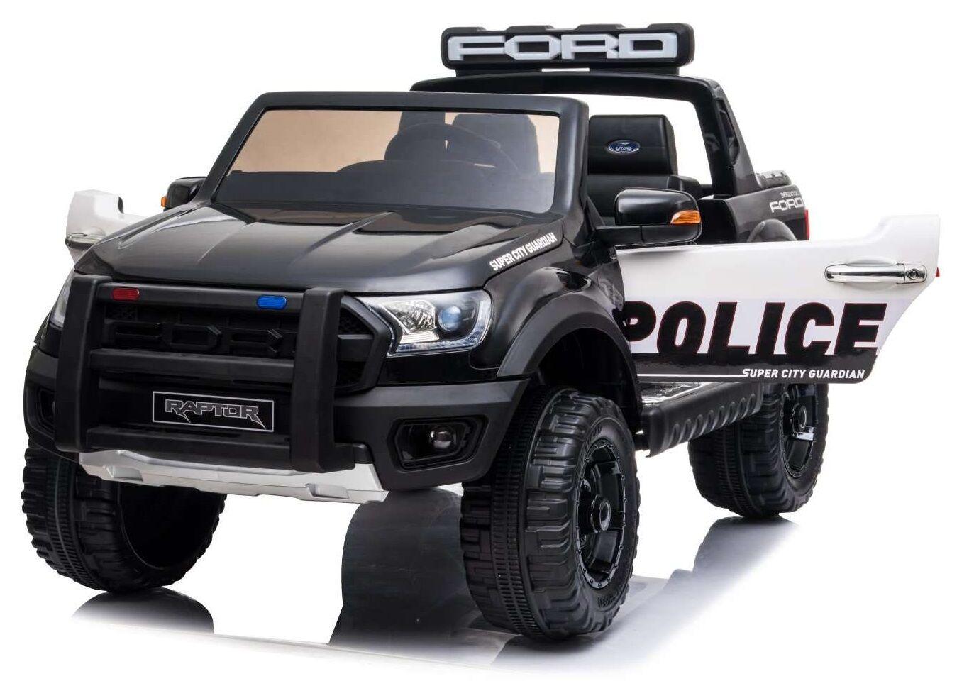 4x4 électrique 12 V Ford Ranger Raptor Police télécommande Bluetooth