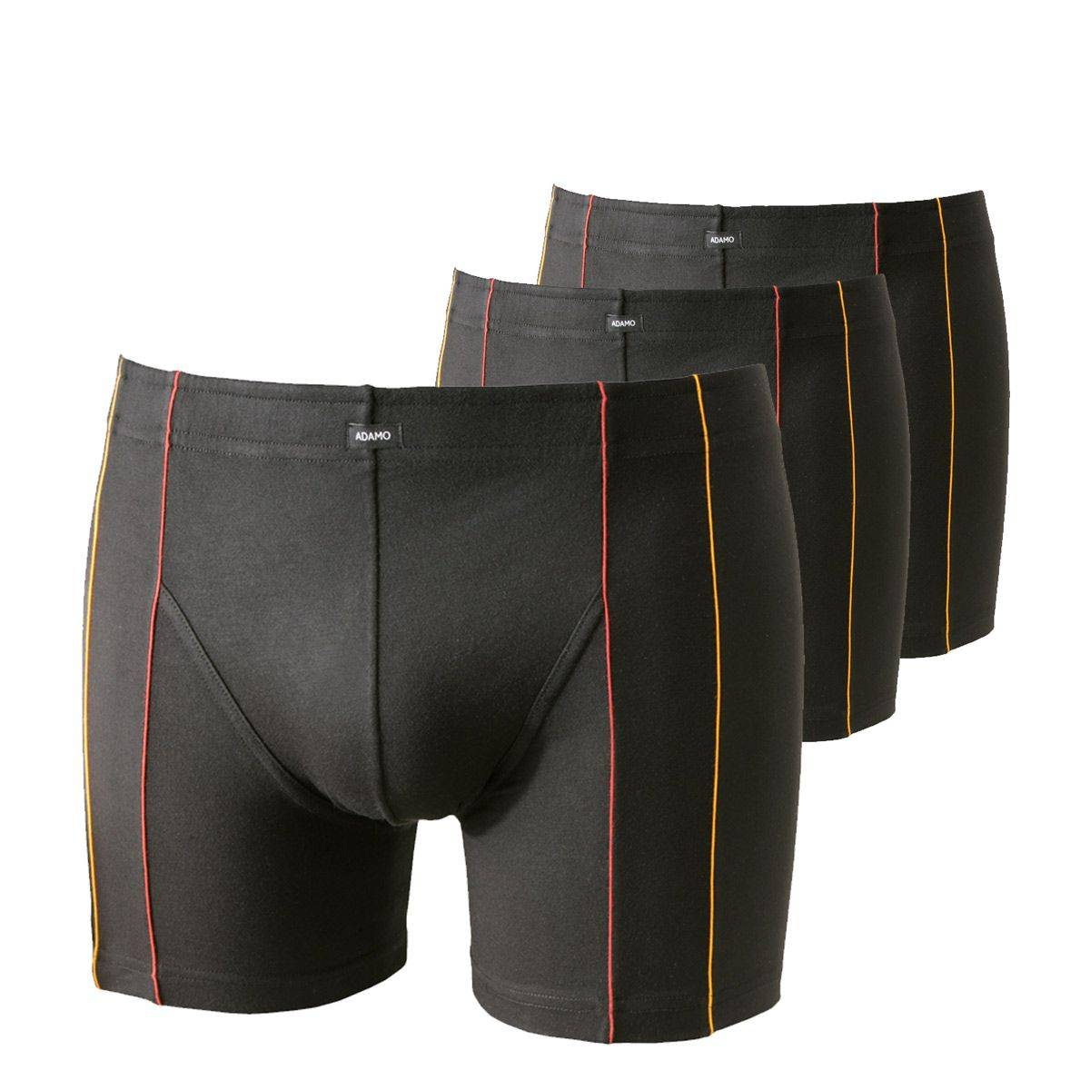 Adamo Lot de 3 boxers en micromodal stretch Adamo grande taille noirs;