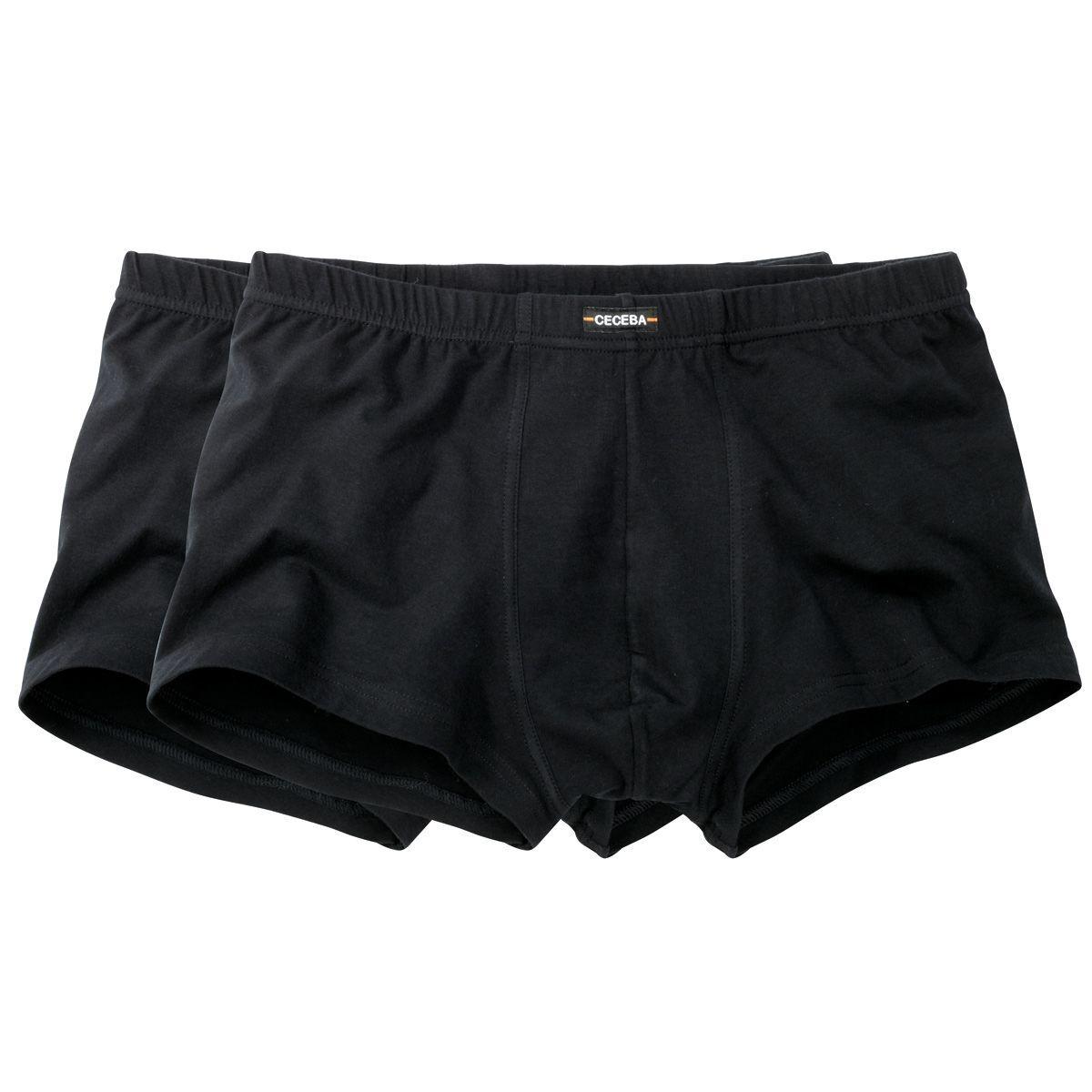 Ceceba Lot de 2 boxers Ceceba grande taille noirs;