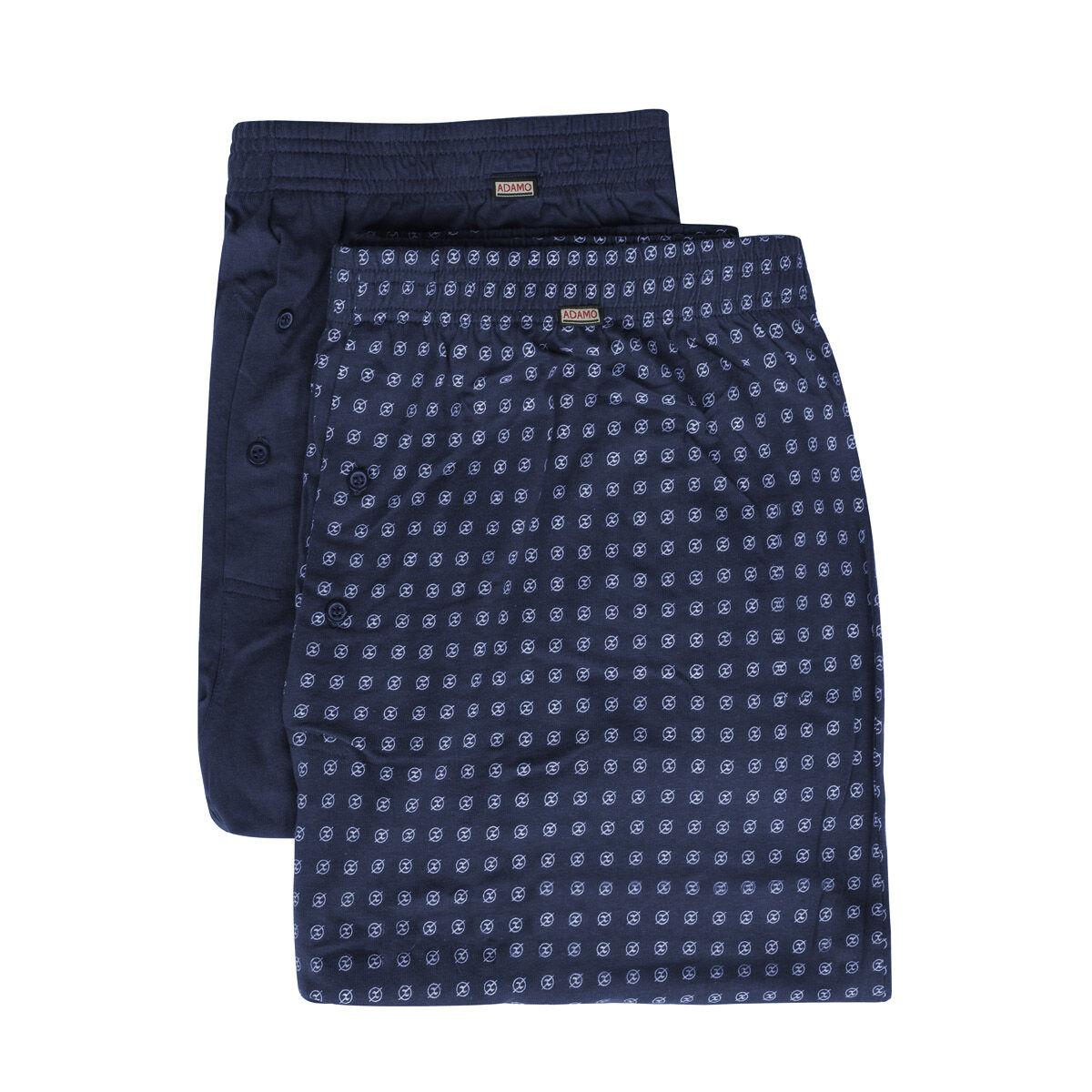 Adamo Lot de 2 caleçons Adamo grande taille Bleu en coton;