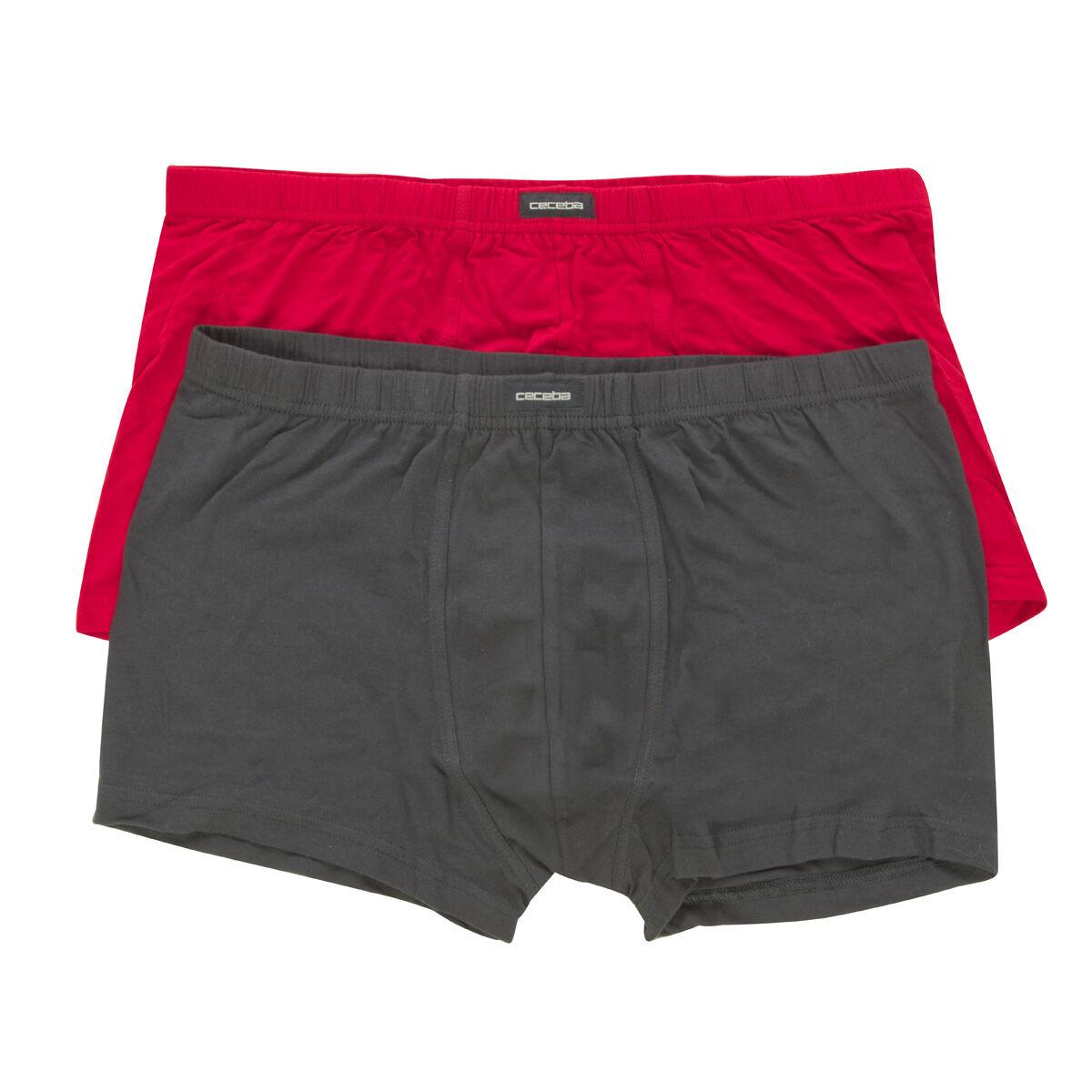 Ceceba Lot de 2 boxers Ceceba grande taille noir et rouge;