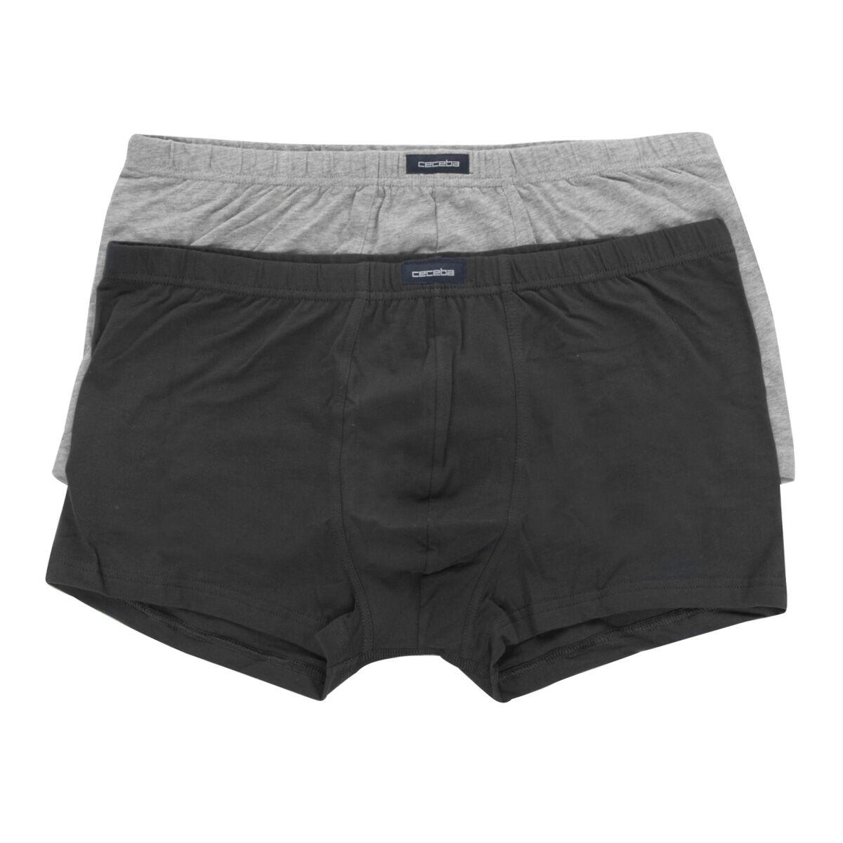 Ceceba Lot de 2 boxers Ceceba grande taille noir et gris;