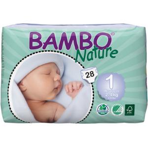 BAMBO NATURE Newborn 1 - de 2 à 4 kg - 28 langes