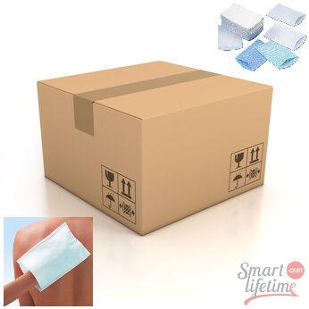 Gohy Carton de 500 gants de toilette jetables PRESAVONNES 75g/m² - 156 x 230 mm