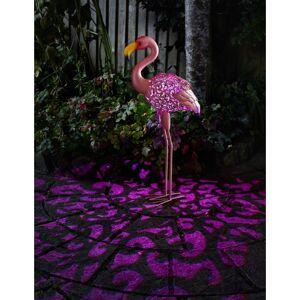 Smartsolar Flamant rose métal lumineux solaire