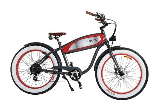 Volta Vélo électrique Cyclone Retro Fat - Noir Rouge