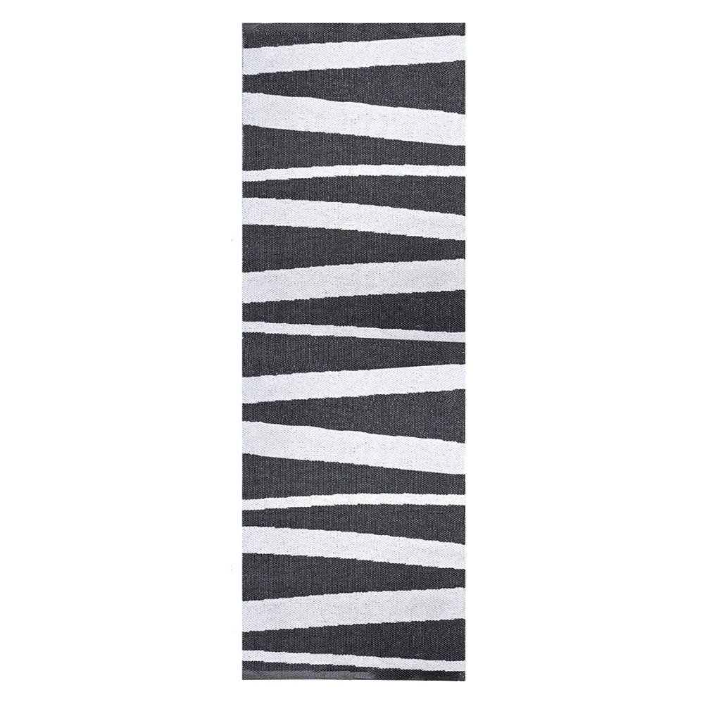 Sofie Sjostrom Design Tapis de couloir rayé noir et blanc SOFIE SJOSTROM DESIGN ARE