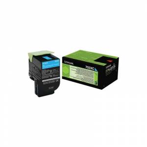 Lexmark Toner Cyan Très haute capacité Lexmark pour CS510 (702XC)