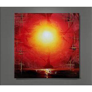 EVA JEKINS Tableau design Soleil levant abstrait