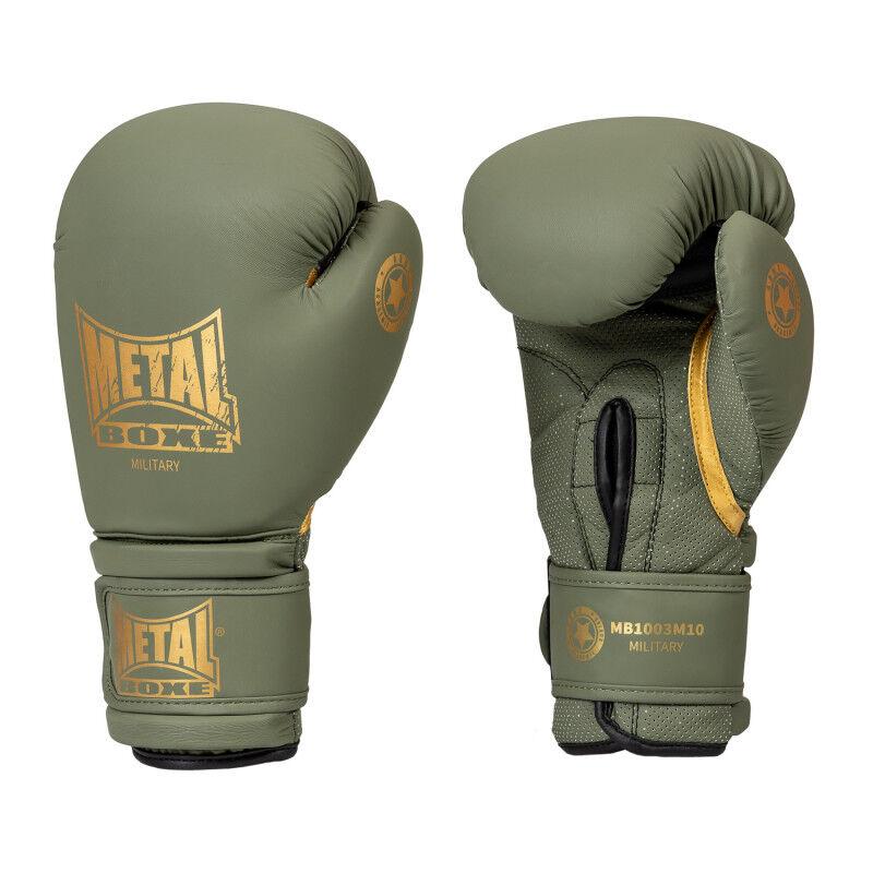 METAL BOXE Gants de boxe military metal boxe