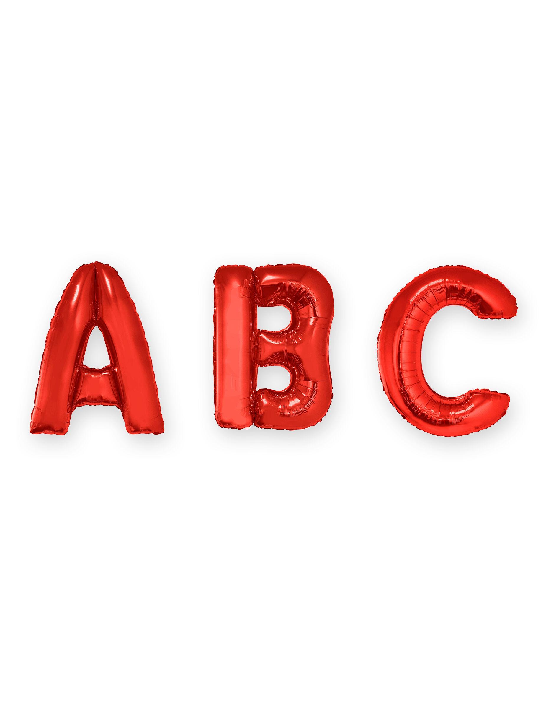 VegaooParty Ballon aluminium lettre rouge 1 m