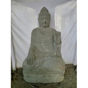 Wanda Collection Statue jardin zen bouddha pierre volcanique position méditation 1,20 m