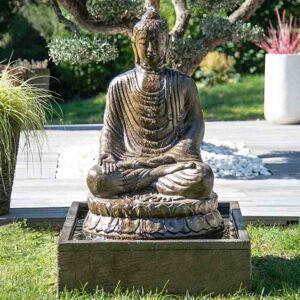 Wanda Collection Fontaine de jardin bouddha assis 1 m 20 patiné