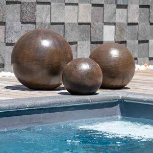 Wanda Collection Trio boules décoratives extérieur brun