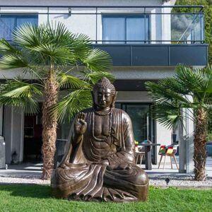 Wanda Collection Grande Statue 2 m Bouddha assis en fibre de verre position offrande