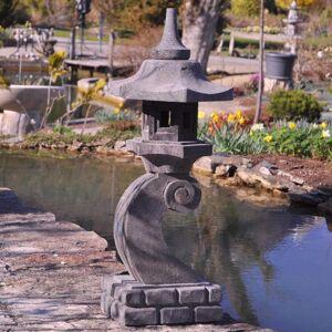 Wanda Collection Lanterne japonaise en pierre de lave 90 cm lampe jardin terrasse