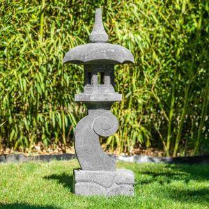 Wanda Collection Lanterne japonaise pagode zen en pierre de lave 90 cm