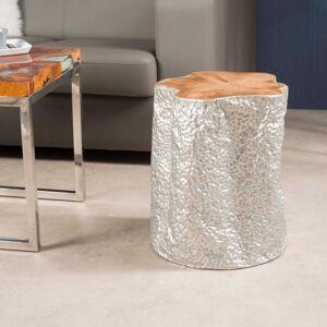 Wanda Collection Tabouret Naturel recouvert d'Aluminium LODGE