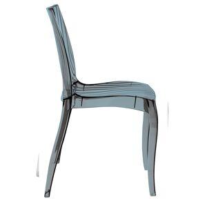 LE QUAI DES AFFAIRES Lot de 2 chaises DUNE empilables / Gris Transparent