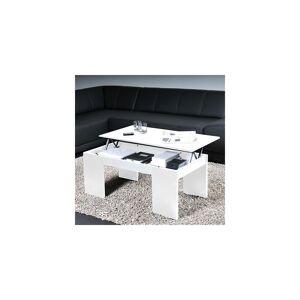 LE QUAI DES AFFAIRES Table basse NEWTON 100x50cm / Blanc