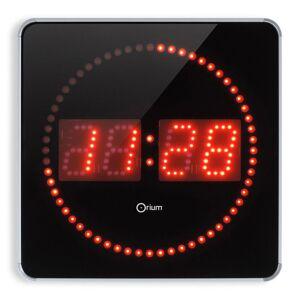 Orium Horloge digitale à Led 2en 1 - 28 cm - alu / noir