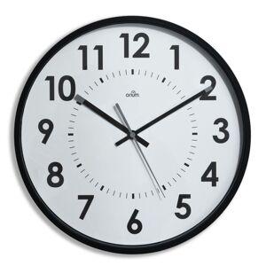 Orium Horloge murale silencieuse à quartz - diamètre 30 cm - noir