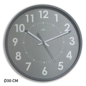Orium Horloge murale silencieuse à quartz - diamètre 30 cm - aluminium