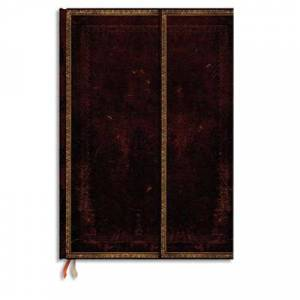 Paperblanks Carnet Paperblanks - reliure classique à l'ancienne Marocain - 13 x 18 cm 144 pages - ligné - noir