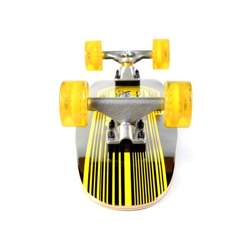 TRACKER TRUCKS Skateboard TRACKER TRUCKS Classic Wing Cruizer - Black 29' (73 cm) - Orange Wheels