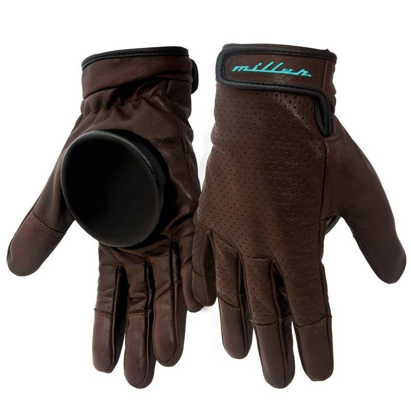 MILLER Gants de skateboard MILLER Freeride Advantage brown leather