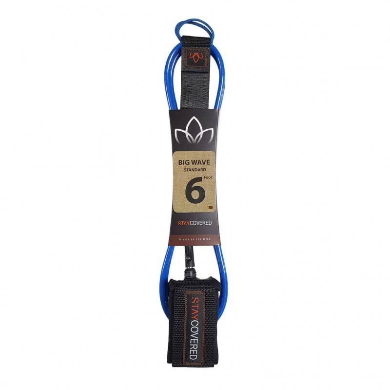 STAY COVERED Leash Surf STAY COVERED Big Wave Standard (8mm) - Bleu