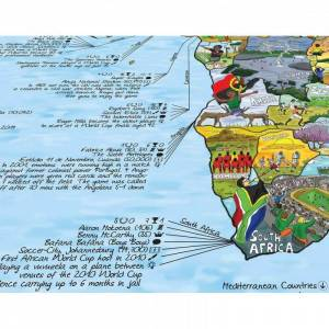 AWESOME MAPS Poster Carte du Monde Football Awesome Map Re-writable