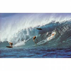 JEFF DIVINE PHOTOGRAPHY Photographie Surf Vintage JEFF DIVINE 'Pipeline Wipe Out'