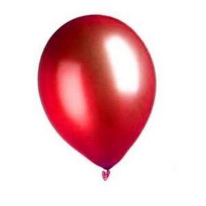 Deguisetoi 100 Ballons rouges métallisés 29 cm