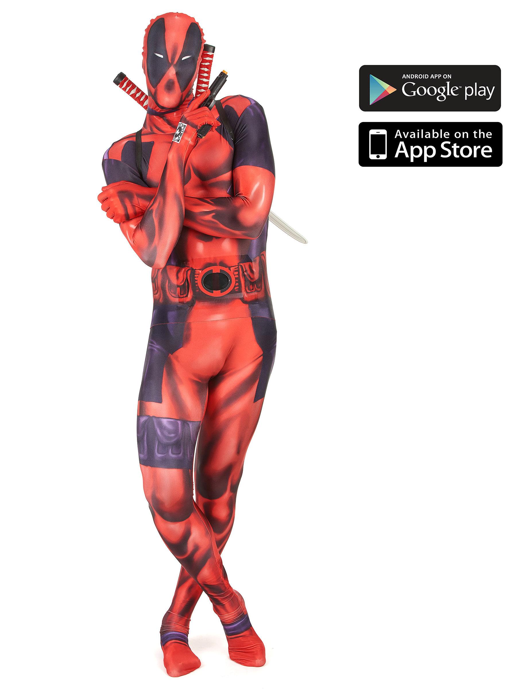 Deguisetoi Déguisement Deadpool zapper adulte Morphsuits - Taille: M (maximum 160 cm)